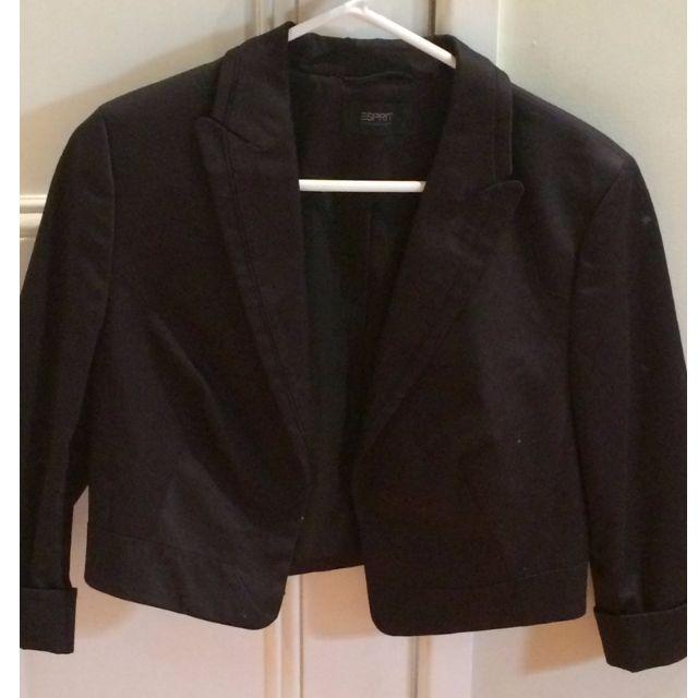 Cropped Black Blazer - Espirit Collection