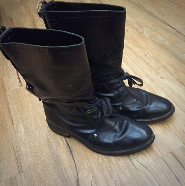 DIESEL真皮靴