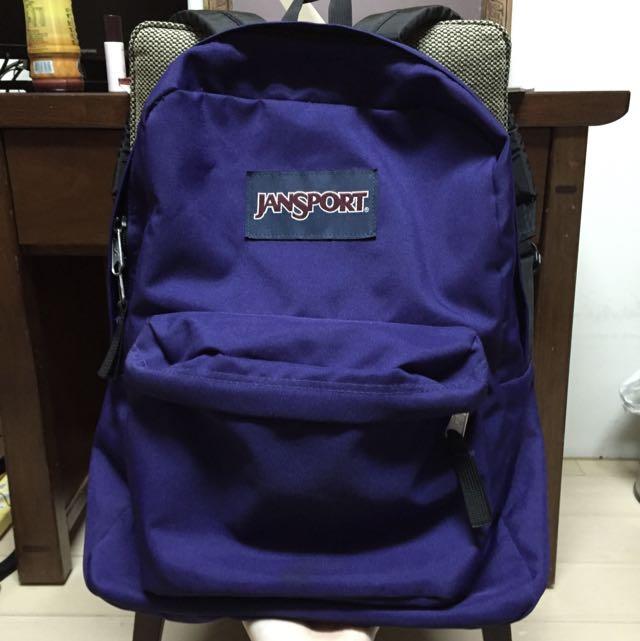 Jansport後背包 深紫色