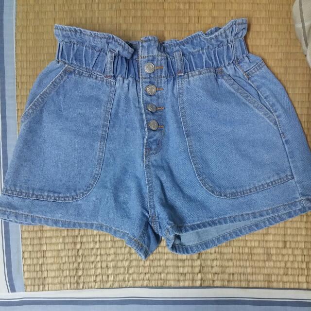 淺藍牛仔短褲L