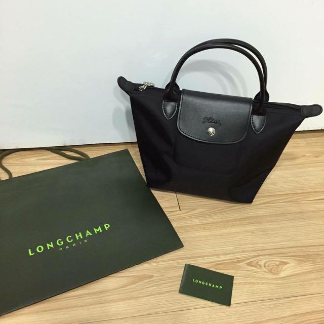 Longchamp Planter 1621 短黑s