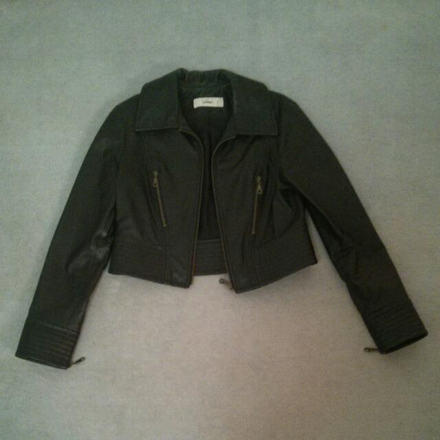 Lover Black Leather Jacket