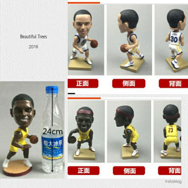 ®NBA 籃球小公仔 Jordan Kobe Curry AI James KD Duncan Harden Dirk Paul T-mac