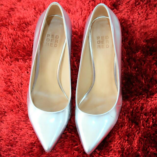Ped Der Red Size 36 In Silver