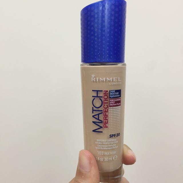 全新✨《新版》Rimmel London Match Perfection 藍瓶粉底液