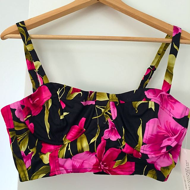 She's Electric Club Tropicana Bralet NWT Size 12