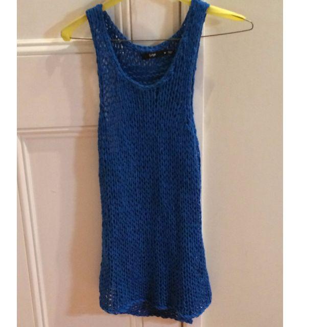 Sportsgirl Blue Knit Long Top