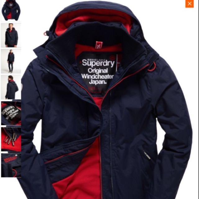Superdry 極度乾燥男XL外套100%全新