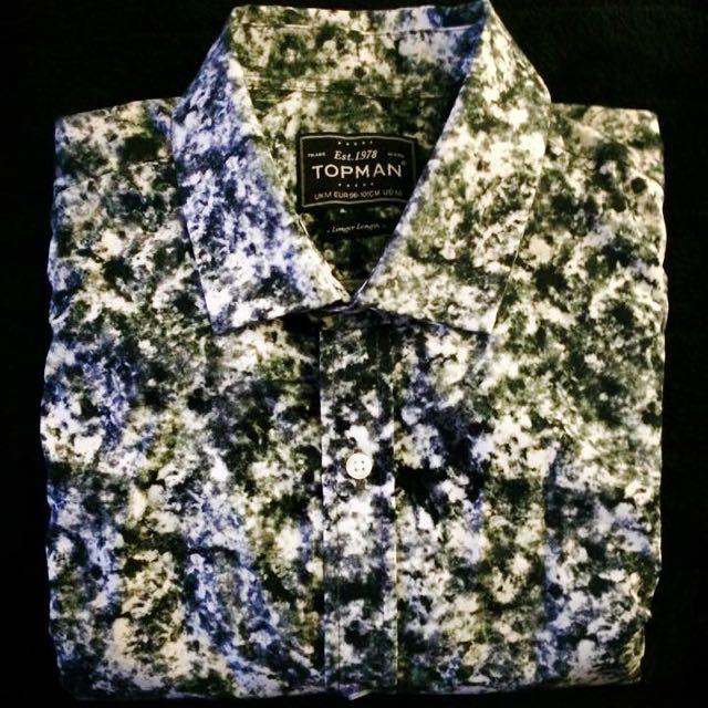 Topman Long Length Shirt Size M
