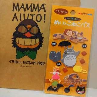 Totoro 3D Stickers From Studio Ghibli Japan