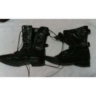 Fake Leather Boots