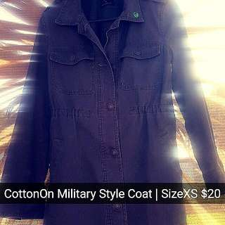 Cotton On Military Style Coat!
