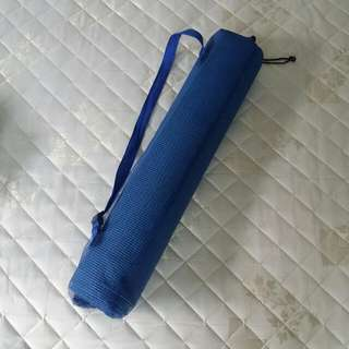 Blue Yoga Mat In Like New Condition
