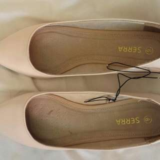 New Leather Pink Ballet Flats