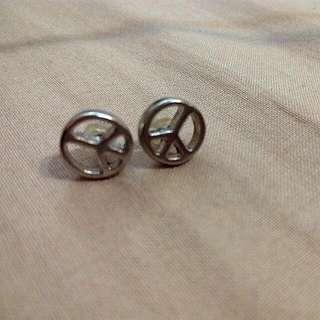 和平圖形耳環
