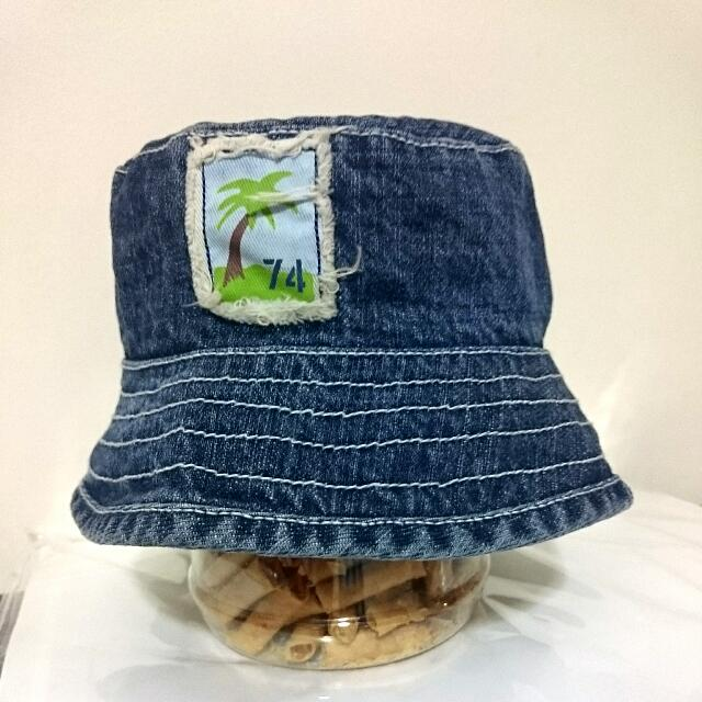 ef79088fab9f1 BN 100% Cotton Denim Boonie Hat - For Infants Toddlers 3 To 9 Months Old -  Bucket Jungle Sun Hat Cap