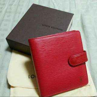 Authentic Pre-owned Louis Vuitton Red Epi Leather Women's Wallet