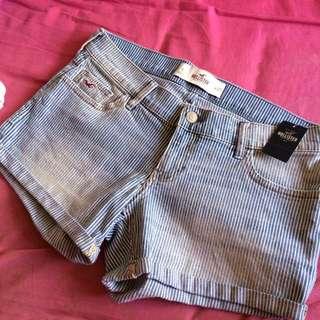 Hollister條紋牛仔短褲
