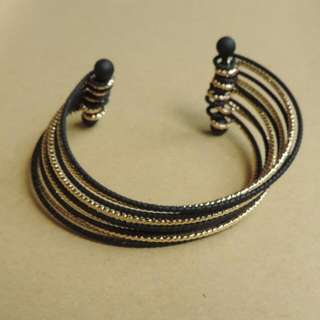 Black/Gold Bangle