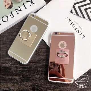 鏡面指環扣iphone6iphone6plusiphone6siphone6plus手機殼