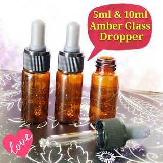 5ml & 10ml Amber Glass Dropper