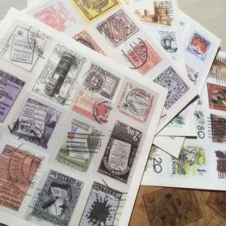 Scrap book Vintage Sticker Stamps Cheap