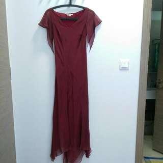 Maroon Evening Maxi Dress (Daniel Yam) #payday30