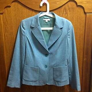 (大降價賣不掉就都回收了)Theme 女性歐碼40號 灰色氣質西裝外套/OL上班 套裝
