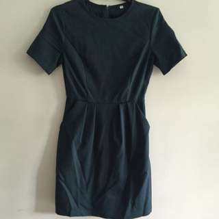 FMTP Emerald Green Corporate Dress Size S
