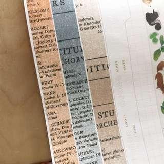 倉敷意匠 舊書本 紙膠帶分裝