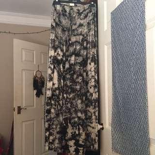Strapless/halter Tie Dye Dress Or Skirt