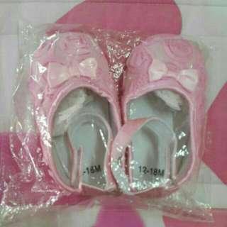 粉紅玫瑰學布鞋