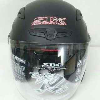 【全新】SBK TYPE-R III 素色 3/4安全帽