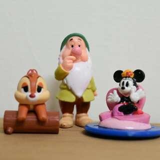 迪士尼。奇奇蒂蒂 小矮人 米妮米奇