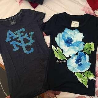 美國購入正版AE/A&F t恤