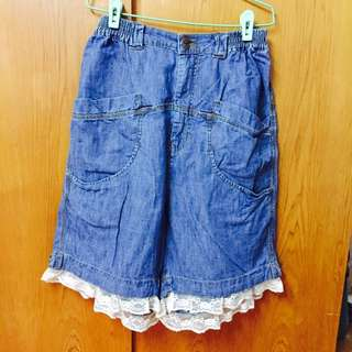 🔥降價🔥古著 牛仔寬褲 深藍 #女裝五折出清