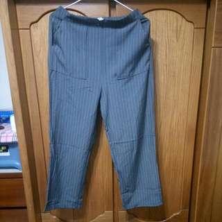 Air Space 灰色 直條紋 老爺褲