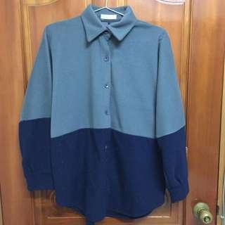 灰藍襯衫(秋冬穿)