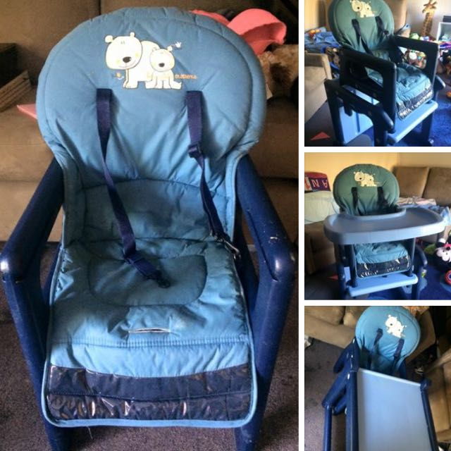 2-1 High Chair / Table And Chair