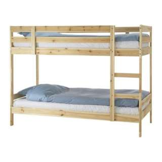 Wooden Double Deck Bed