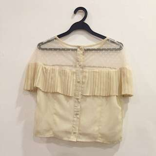 [🆓w Any Purchase]Creamy Buttons Top