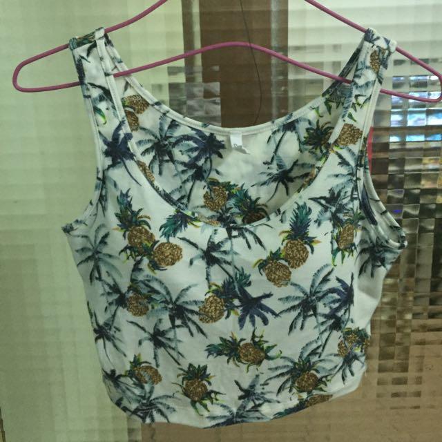 熱帶鳳梨有襯短版背心