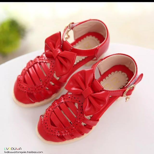 降🎊全新,紅色涼鞋