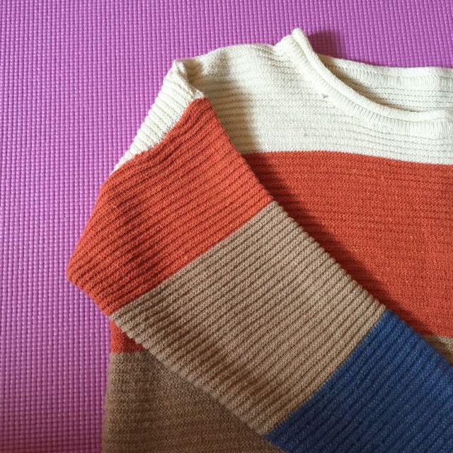 🙋三色雙口針織上衣