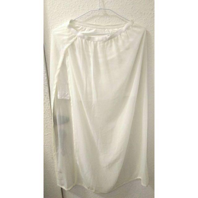 二手白色雪紡紗裙