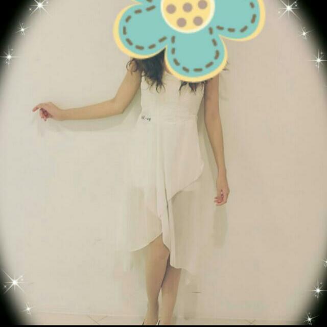 平口抹胸 雪紡 洋裝/禮服 前短後長