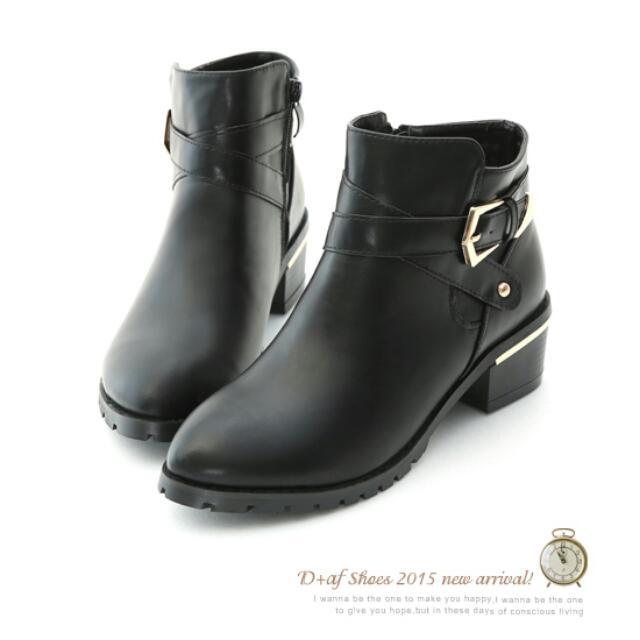 轉賣 D+af 短靴 黑色43