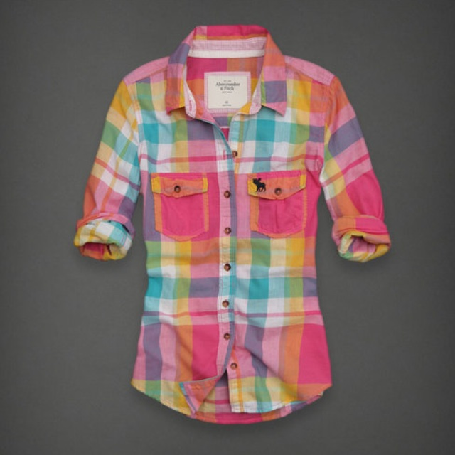 Abercrombie & Fitch Multi-Coloured Plaid Shirt