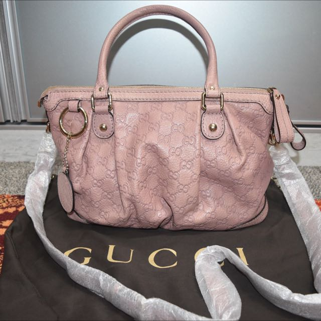 acb6b0bf05e Brand New Gucci Full Leather Bag In Dusty Pink
