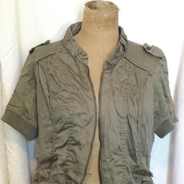 Cropped Khaki Jacket